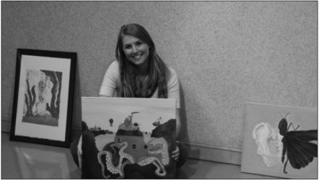 Jayden Gregory. Photo EditorSenior Jessie Huffman said she enjoys making nautical artwork, like these pieces that will be in her show Friday.
